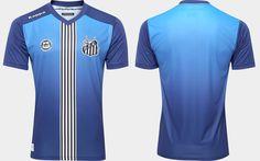 Terceira camisa do Santos FC 2016-2017 Kappa Azul kit