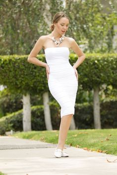 Feel like a queen with this textured #white #dress and rule the day!