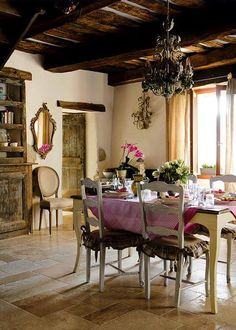 Ideas French Country Landscape Design Dining Rooms For 2019 French Country Cottage, French Country Style, French Farmhouse, Rustic French, Rustic Cottage, French Interior, French Decor, French Country Decorating, Mundo Design