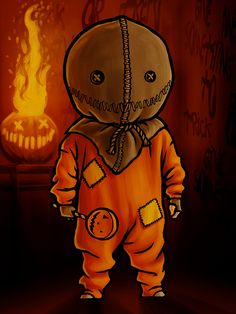Trick 'r Treat - Sam by on DeviantArt Trick Or Treat Film, Sam Trick R Treat, Halloween Rocks, Halloween Horror, Halloween Art, Horror Cartoon, Horror Pics, Dope Cartoons, Halloween Wallpaper Iphone