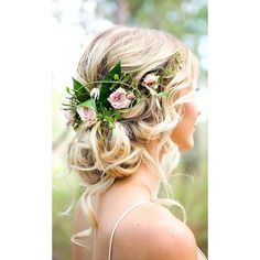 24 Bridal Hair Accessories To Inspire Your Hairstyle ❤ liked on Polyvore featuring accessories, hair accessories, flower garland headband, bridal tiaras, hair comb accessories, flower crown and bridal hair accessories