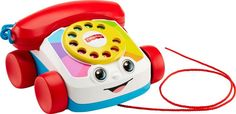 Fisher-Price Chatter Telephone A new look to this classic, baby-favorite pull toy. 2 ways for baby to play: sit & play and stand & pull. Eyes move up & down when phone is pulled along. Fisher Price Toys, Toddler Age, Toddler Toys, Baby Toys, Children Toys, Toddler Gifts, Young Children, Baby Mickey, Online Shopping