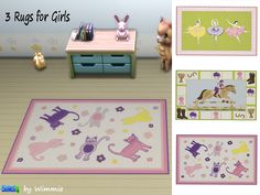 Sims 4 - Rugs for Girls