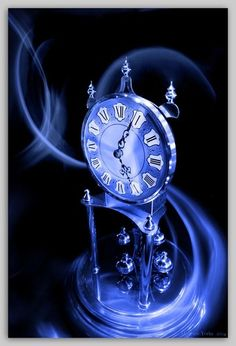 blue-filter anniversary clock