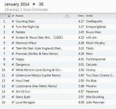 January 2014 Playlist