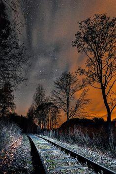 Midnight Meat Train, Lights up Railroad. Czech Republic