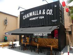 Quirky cafe names Coffee Shop Names, Small Coffee Shop, Container Restaurant, Container Shop, Cafe Shop Design, Kiosk Design, Bakery Interior, Cafe Interior Design, Deco Restaurant