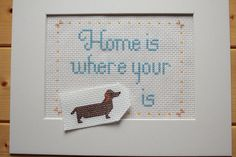 Home is Where Your Dachshund is is a cute present for the dachshund lover in your life (maybe for you)! With only 7 colors, this pattern