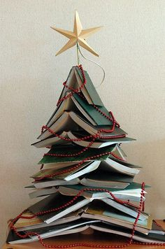 Christmas tree for booklovers. Now do you think my children would resist the urge to completely ruin this masterpiece.
