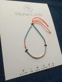 Morse Code Bracelet Pisces by morsecords on Etsy