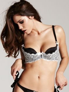51da822c2d85e Nataliya Ivory Black Plunge Bra - Buy Online at Ann Summers Ann Summers