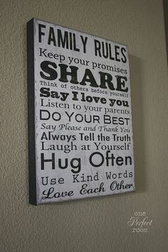 The stuff that my family needs reminding of OFTEN.  lol