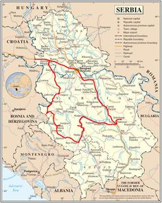 We have added a new Serbia map for it shows all the major roads, provinces, capital city and other major cities. Serbia is on the Europe map for 2020 but… Sarajevo Bosnia, Belgrade Serbia, Serbia And Montenegro, Austria, Canada Images, Novi Sad, World View, Central Europe, Cartography