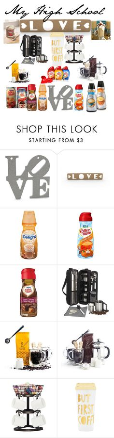 """""""Coffee Was My High School Love"""" by laxa-rose ❤ liked on Polyvore featuring Picnic at Ascot and ban.do"""