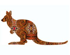 Kangaroo painting (Etsy)