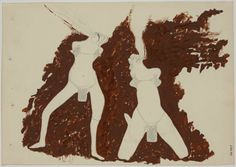 'Witches Spitting Fire', Oil by Joseph Beuys (1921-1986, Germany)