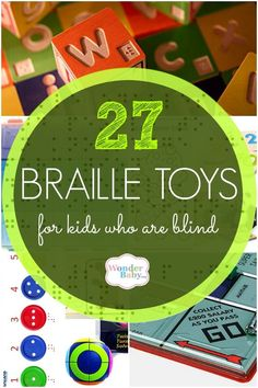 Of course you can add braille to almost any toy. All you need is a good braille labeler and a little space on the toy and you're good to go! But it's also exciting to find toys specifically designed for blind or visually impaired kids who are learning (or are already proficient at) braille.