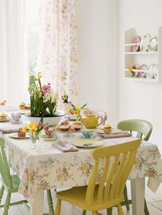 bright and colourful tea party