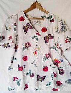 7 Scrubs Uniform Women Lot of 7 Medical Dental Short & Long Sleeve Tops Jackets
