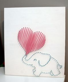 Nursery Elephant String Art