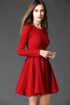 Red-Dress-2015-Autumn-Winter-Fashion-European-Brand-Knitting-Women-Long-Sleeve-Slim-Fit-A-Line.jpg (750×1125)