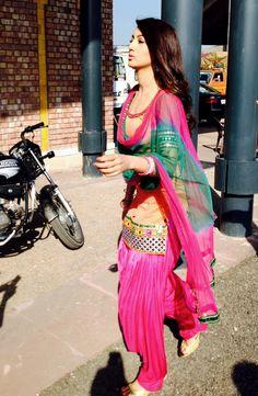 Gauahar (Gauhar) Khan shooting for a #Punjabi film. #Bollywood #Fashion #Style #Beauty