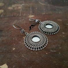 """MACS Jewelry pure silver mirror earrings- Sneha Miriam (@macsjewelry) on Instagram: """"#macsjewelry #mirrorearrings #puresilver #earrings"""""""
