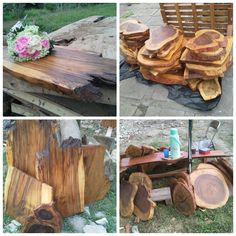 Our stock pile for giant wooden dics/board for your event or wedding centerpieces.    For your information about our product and pricelist, contact us via;  FB; Bali Rustic Rental Instagram : bali rustic rental Email : goesbayuputra@yahoo.com Wa : 089655355052 Ph : 081238076101