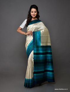 Plain yet pompous, this amazing Chhattisgarh beauty is the best of Kosa sarees. This Kosa silk saree is a pure handloom silk saree from Champa, Chhattisgarh. Like all Kosa silk sarees online, this hand-woven saree may have weaving irregularities which add to its appeal and originality.