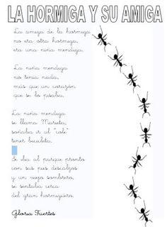 """.::Un mundo de pequeñas cosas::.: 497.- """"La hormiga y su amiga"""" Gloria Fuertes"""