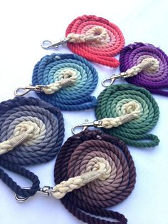Ombre Cotton Rope Leashes