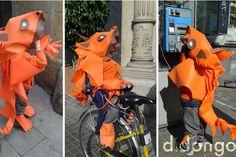 disfraz casero de dragón