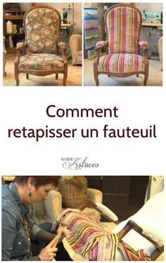 Comment restaurer et retapisser un vieux fauteuil Chaise Chair, Armchair, Bernhardt Furniture, Entertainment Furniture, Diy Sofa, Patio Seating, Slipcovers For Chairs, Recycled Furniture, Paint Furniture