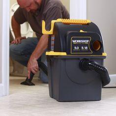 Workshop Wet Dry Vac WS0500WM Wet/ Dry 5.0 Peak HP, 5 gal. Portable Wall Mount Garage Vacuum Cleaner