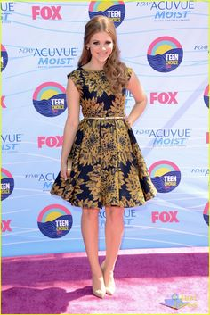 Holland Roden in Fall 2012 Alice + Olivia at the TCA's. love this dress and the Louboutin heels. love the hair and makeup too.