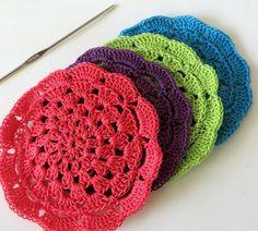 Tutorial - Posavasos tejidos al crochet - DIY
