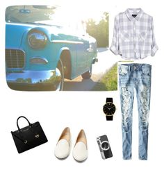 """""""A day out !!"""" by prachiv0710 on Polyvore featuring American Eagle Outfitters, Charlotte Olympia, MICHAEL Michael Kors, Casetify, Rails and Larsson & Jennings"""
