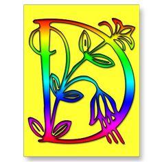 D is for hippy rainbow Donna