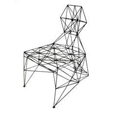 Sculptural ' Armadillo ' chair by Baltasar Portillo | 1stdibs.com
