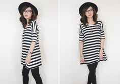 Outfit Post : Black And White Stripes