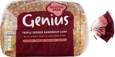 Genius Triple seeded sandwich loaf.