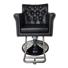 Cambridge Styling Chair - The Cambridge Styling chair is one of our most elegant, comfortable options. Features a beautiful tufted backrest. Pedicure Chair, Pedicure Spa, Nail Salon Furniture, Spa Chair, Upholstery Tacks, Salon Chairs, Foam Cushions, Tufting Buttons, Black Crystals