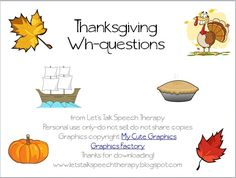 DIY your photo charms, 100% compatible with Pandora bracelets. Make your gifts special. Make your life special! Let's Talk Speech Therapy: Thanksgiving Wh-questions
