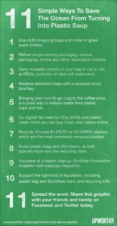 11 ways to save the ocean from being plastic soup.