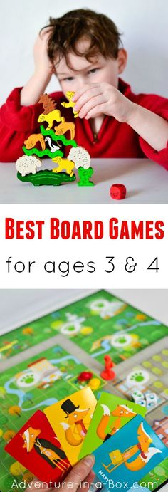 Do you like playing board games and wonder which are the best games for preschoolers - that adults will like too? Here is the list of our favourite educational games to play as a family with three- and four-year-olds. #kidsactivities #familyfun #homeschooling #preschool #homeschool