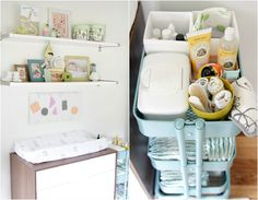 Another great example of using Ikea's Raskog cart as a diaper cart. Definitely doing this since we have it already.
