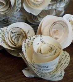 Rosa de papel simples de fazer