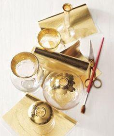 Gold Leaf Vases/Glass Jars