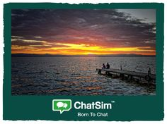 Carlos T. Valencia, Spain: Watching the sunset from Albufera natural park Shared with ChatSim App used: Line. Credit used: 10 (photo size 100 KB) http://www.chatsim.com/