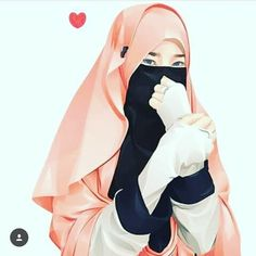 Ice Bear We Bare Bears, Drawing Cartoon Faces, Hijab Drawing, Islamic Cartoon, Anime Muslim, Islam Women, Hijab Cartoon, Islamic Girl, Hijabi Girl